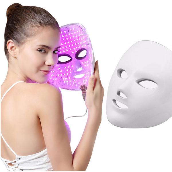 Santé Beauté 7 Couleurs Lumières LED Photon PDT Masque Facial Visage Soins De La Peau Thérapie De Rajeunissement Portable Usage Domestique À Domicile livraison gratuite