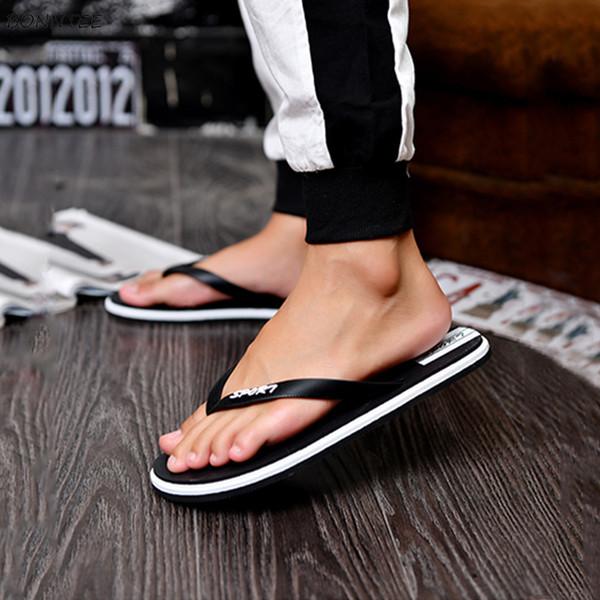 Men's Slippers Summer Mixed Colors Soft Bottom Leisure All-match Beach Shoes Men Trendy Fashion Simple Lightweight Flip Flops