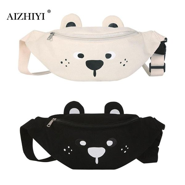 39e01955d4a9 Teen Girls Fashion Canvas Cute Cartoon Bear Waist Belt Shoulder Crossbody  Bags Women Casual Simple Travel Messenger Chest Pack Visconti Bags ...