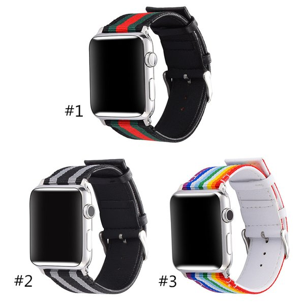 DHL-Smart Straps Watchband For Apple Watch Business Styles Nylon Strap 38mm 40mm 42mm 44 mm replacment
