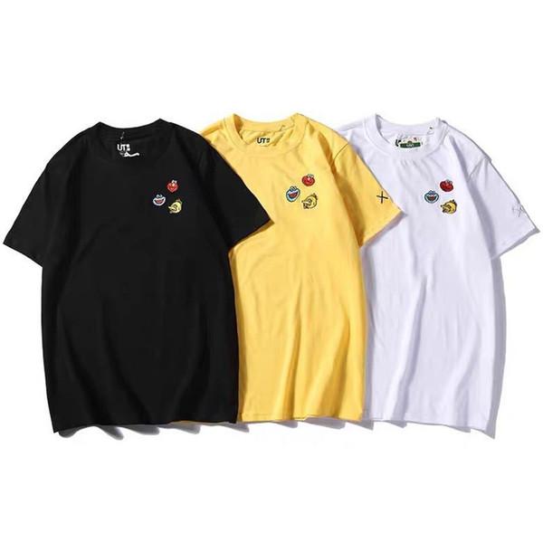 2019 Sommer-neue UT Sesame Street gemeinsame Namen x kaws xT-Shirt Männer und Frauen Paar kurzärmeliger Sport lässiges T-Shirt