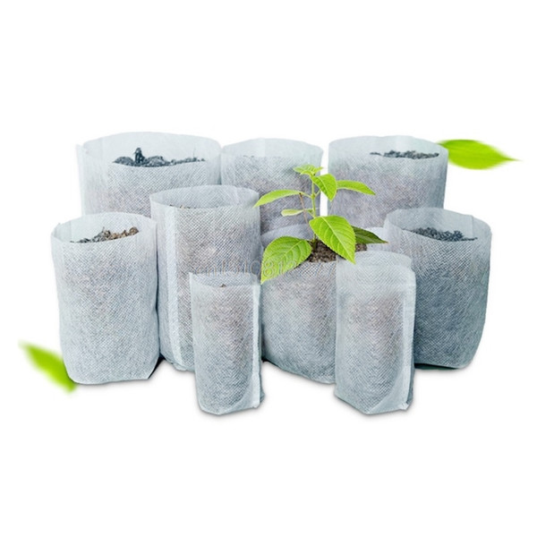 Biodegradable Seed Nursery Bags 100pcs/lot Nursery Flower Pots Vegetable Transplant Breeding Pots Garden Planting Nursery Plant