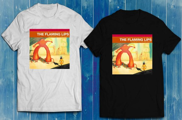 THE FLAMING LIPS Yoshimi Battles Pink Robots black White Men's T-shirt S-2XL Funny free shipping Unisex Casual Tshirt top