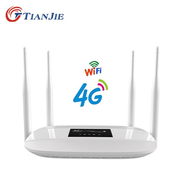 Sıcak satış ev 4g wifi kablosuz yönlendirici kilidi 4g modem lte CPE router kablosuz küresel sim kart yuvası ile LC111