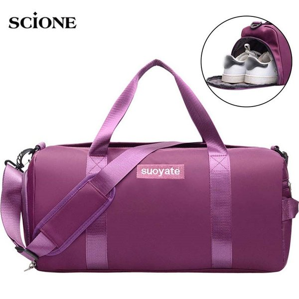 Swimming Yoga Mat Bag Fitness Gym Bags Dry Wet Tas Handbags For Women Men Traveling Training Pink Gymtas Sac De Sport 2019 XA32A #548014