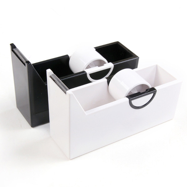 Creative Plastic Masking Tape Cutter Washi Tape Storage Organizer Office Supplies Stationery Dispenser