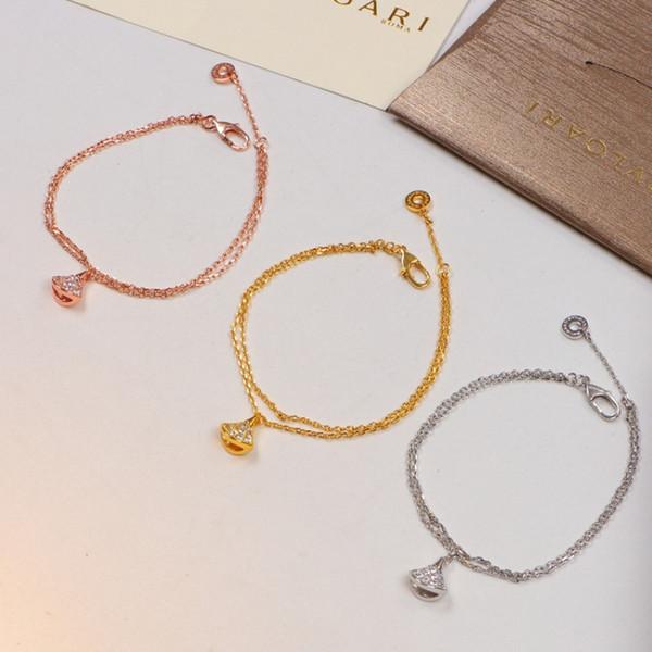 Personality Fan Pattern Full Diamond Bracelets Luxury Women Cute Hollow Rose Gold Bracelet Holiday Brand Girls Adjustable Bracelets