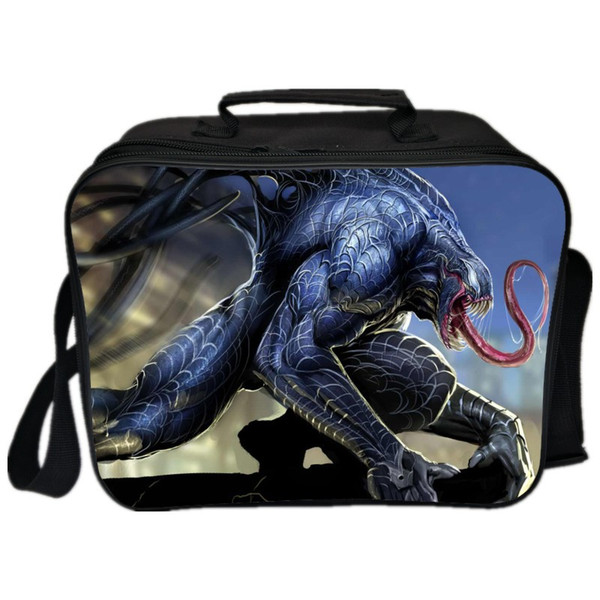New Hot Sale Printing Big Movie Venom Kids Lunch Bag for Children Box Boys Double Layer Portable Cooler Picnic for Students