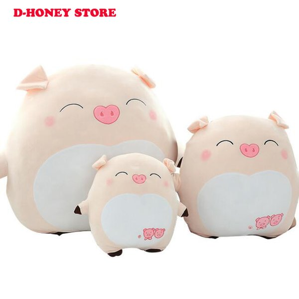 25cm 40cm Anime Pig Plush Toys Baby Pet Doll Soft Stuffed Toys Birthday Gifts For Children cute pillow toys