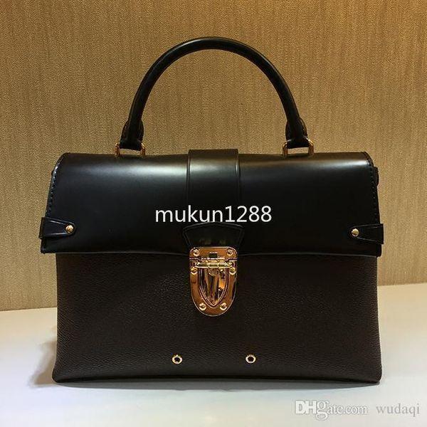 High quality free hot stamping New big lady fashion handbag 43125 portable flip shoulder diagonal package new fashion leather handbag Totes