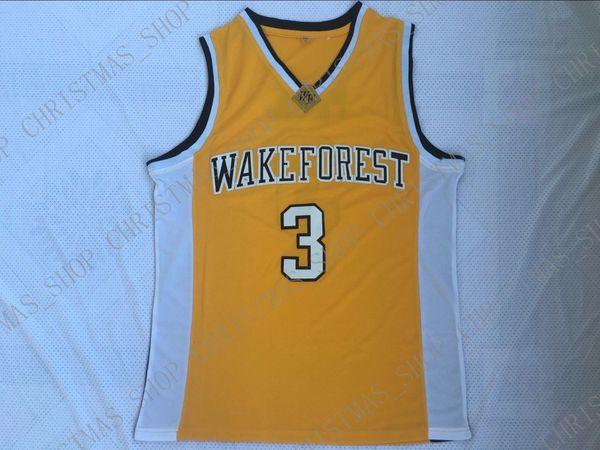 Ucuz özel Chris Paul 3 Wake Forest Demon Deacons Basketbol Koleji Forması Altın Dikişli herhangi bir numara adı Özelleştirmek ERKEK KADıN GENÇLIK XS-5XL