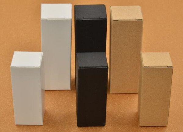 black white kraft paper packaging box for 10ml 15ml 20ml 30ml 50ml 100ml perfume essential oil glass bottle