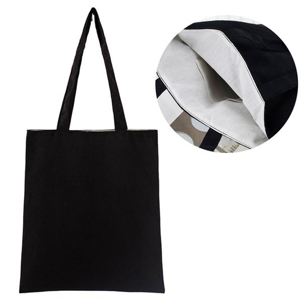 Tote bag multiuso di grande capacità per la scuola Scuola universale Eco riutilizzabile in misto cotone lavabile Morbido contenitore solido