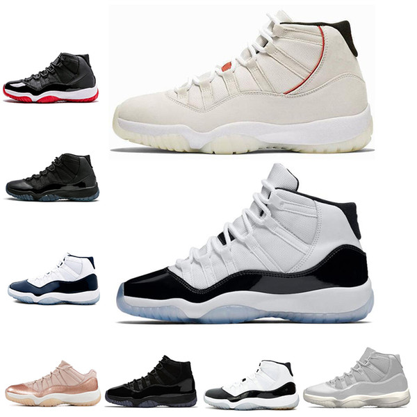 11s Men Basketball Shoes Concord Number 45 23 Platinum Tint Prom Night Bred 11 MensTrainers Womens Sports Sneaker shoes size 5.5-13