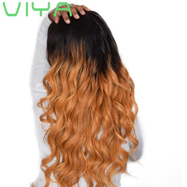 VIYA HAIR Peruvian Non-Remy Hair Weave Body Wave T1B/4/27 Ombre Color 3 Bundles 10-26inch Can Be Dyed Free Shipping