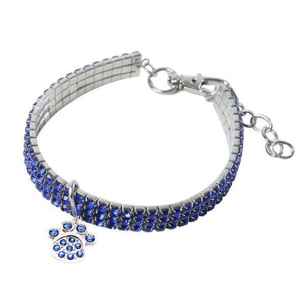 4-Color Rhinestone Stretch Pet Necklace Crystal Collar Pet Supplies Accessories Cross-Border New Dog Party Accessories