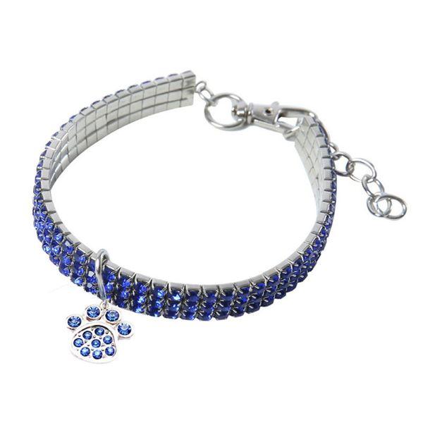 4 couleurs strass extensible Collier Pet cristal Collier Pet Supplies Accessoires New Cross-Border Accessoires Party Dog