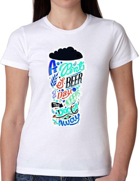 T SHIRT JODE GIRL GGG22 Z1497 BEER PINT DAY MINI ROCK USA GLASS DRINK FUN FASHIO Men Women Unisex Fashion tshirt Free Shipping Funny Cool