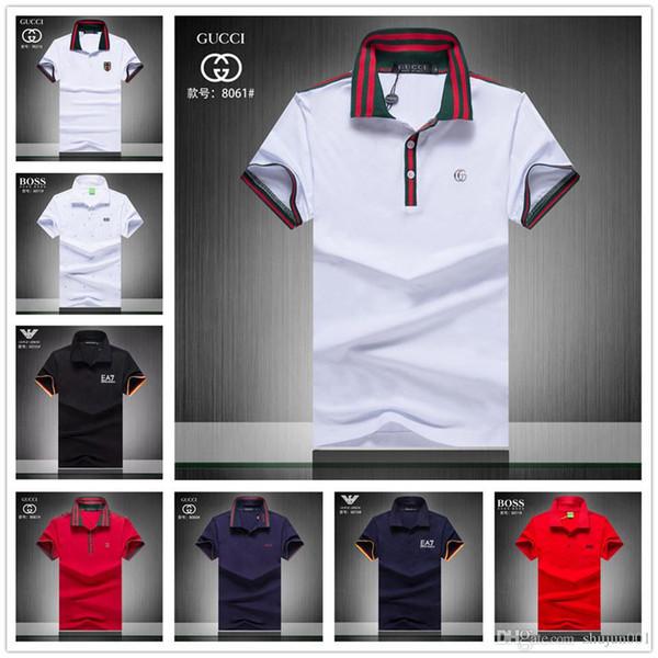 19sa новый с коротким рукавом фитнес рубашки поло мужчины camisa masculino случайные твердые рубашки поло мужская поло рубашка одежда джерси