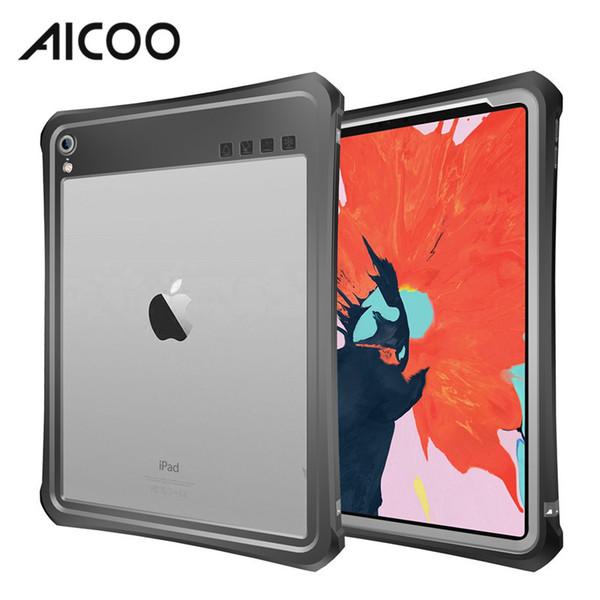 AICOO Kordon Dirsek ile Suya Dayanıklı Darbeye Tablet Durumda Snowproof iPad Pro 11 için Toz Geçirmez Kılıf 10.5 9.7 2017 Perakende Paket
