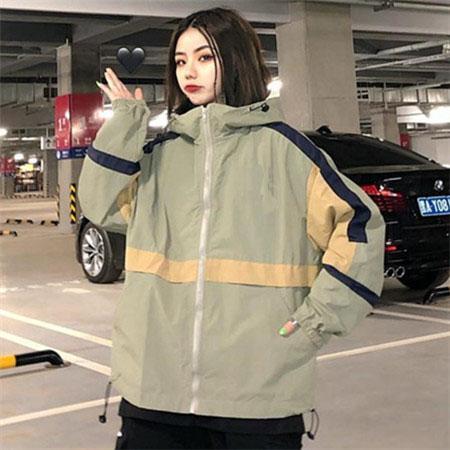 2019 новый дизайнер женская мода свободная ветровка марка высокого качества с длинным рукавом и натуральный цвет для спортивного пальто с размером M-2XL QSL198226
