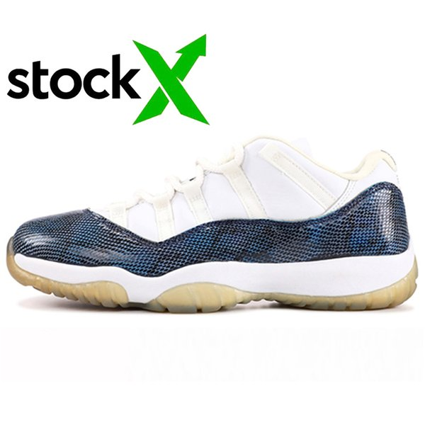 A22 Low Navy Snakeskin