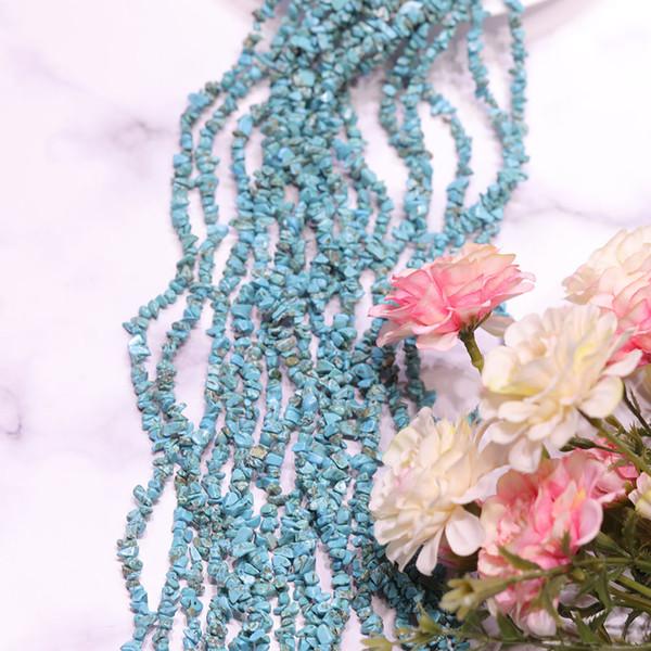 JNMM Natural Mineral Turquoise 80CM con la forma di lunga catena di pietra di pino piccolo seme universale con collana braccialetto perline