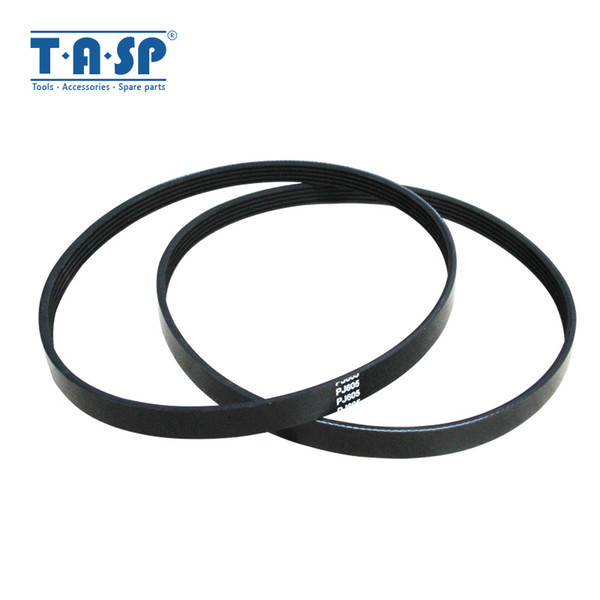 top popular TASP 2pcs 5 Ribs Drive Belt 5605 Replacement V-Belt 605 for Wood Planer Machine Einhell TH-SP-204 W588 2021