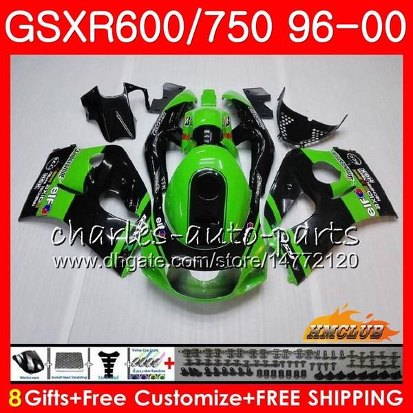 Cuerpo para SUZUKI SRAD GSXR 750 600 GSXR-600 GSXR750 96 97 98 99 00 1HC.4 GSX-R750 GSXR600 verde de fábrica 1996 1997 1998 1999 2000 Kit de carenado