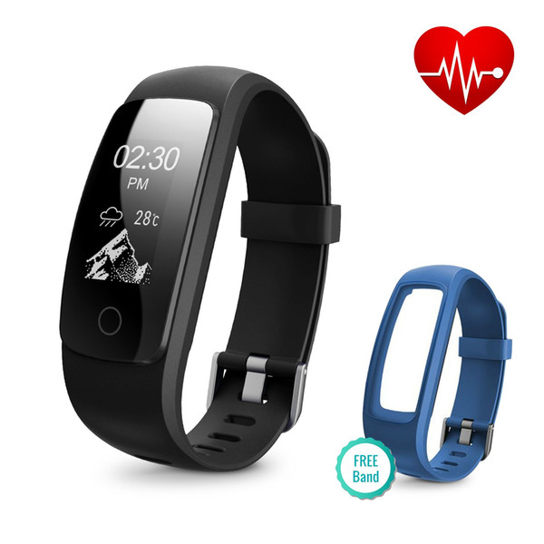 Runme Fitness Tracker with Heart Rate Monitor, Activity Tracker Smart Watch with Sleep Monitor, IP67 Water Resistant Walking Pedometer