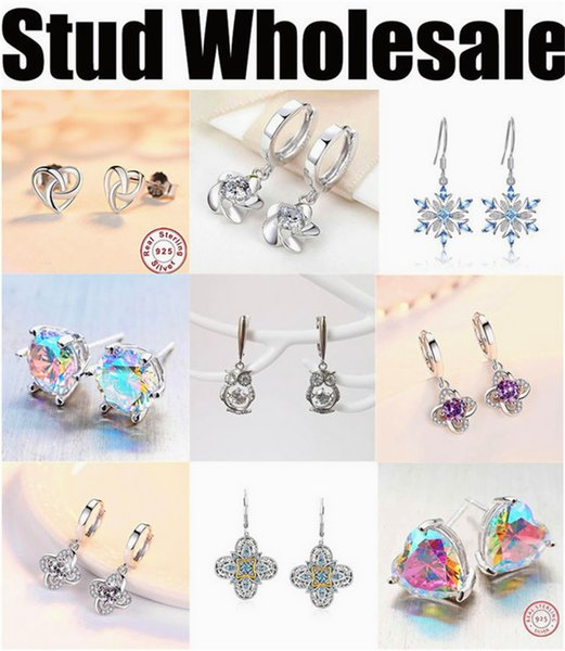 manufacturer wholesale earrings stub for women cheap high quality silver jewelry 2019 new free shipping designer colorful round