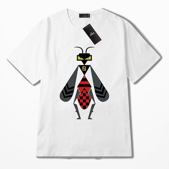 Bee Print FF Италия Роскошная мужская дизайнерская футболка Summer 19ss ff Женские футболки с коротким рукавом с принтом