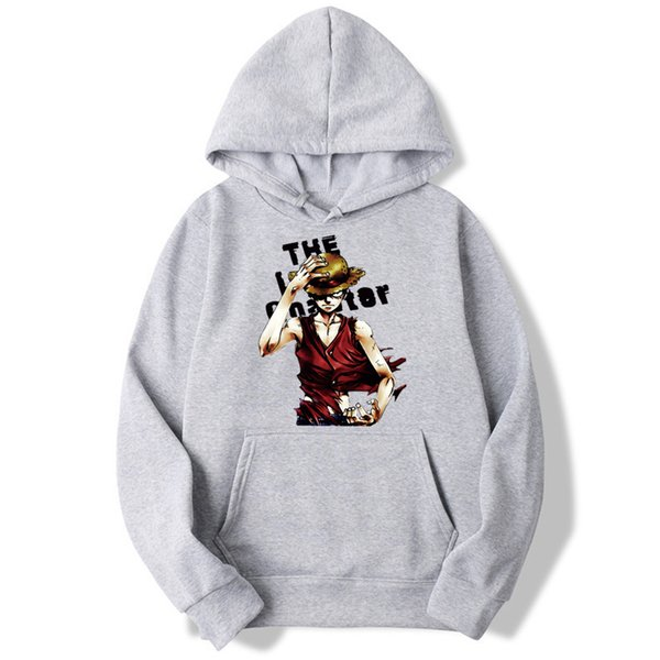 Anime Luffy man Sweatshirt Men One Piece Hoodies Fashion Solid Hoodie Mens Coat Pullover Men's Tracksuits Mwt015