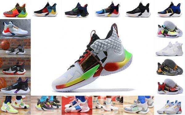 2019 yeni neden değil basketbol ayakkabı erkekler 0.2 sneakers Russell Westbrook II zer0.2 sneakers sıfır 2 orijinal eğitmenler abd ...