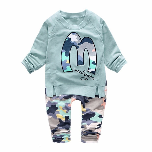 2019 New Spring Autumn Baby Boys Children Clothing Sets Toddler Tracksuits Clothes Full Sleeve T-shirt Pants 2pcs Cotton SuitsMX190916