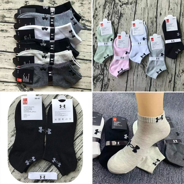 top popular Cotton With tag U&A Ankle socks unisex leisure sports cheerleading short sports socks mixed color socks women for men 2019