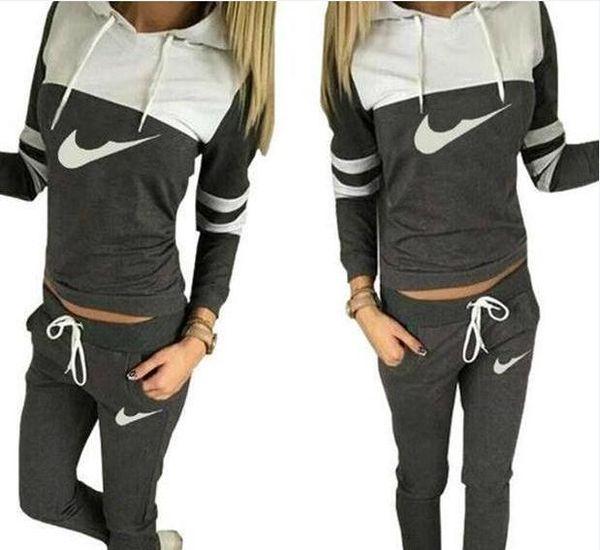 hot!!2019 women sportswear group sport suit women hoodie sweatshirt hooded + leisure trousers suitable for sports fitness yoga movement jogg