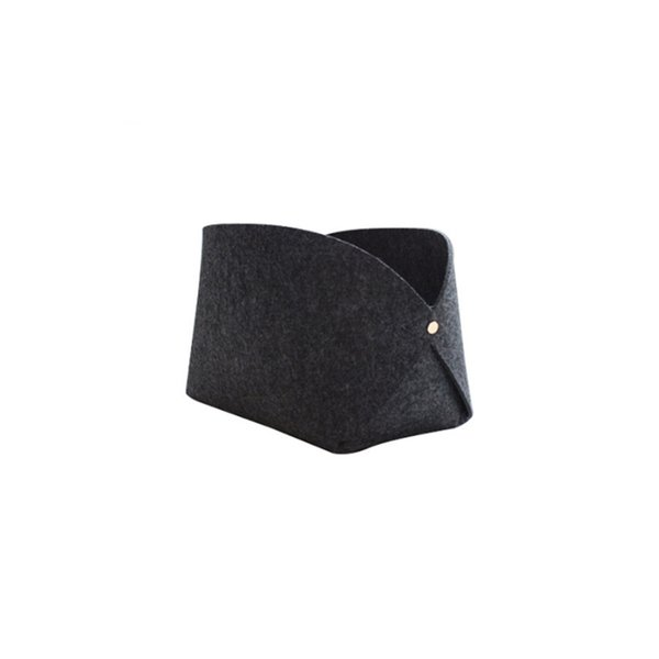 1 Piece 2019 Latest Style Simple Fashion Open Type Felt Material Dark Gray Storage Bag Travel Makeup Storage Bag