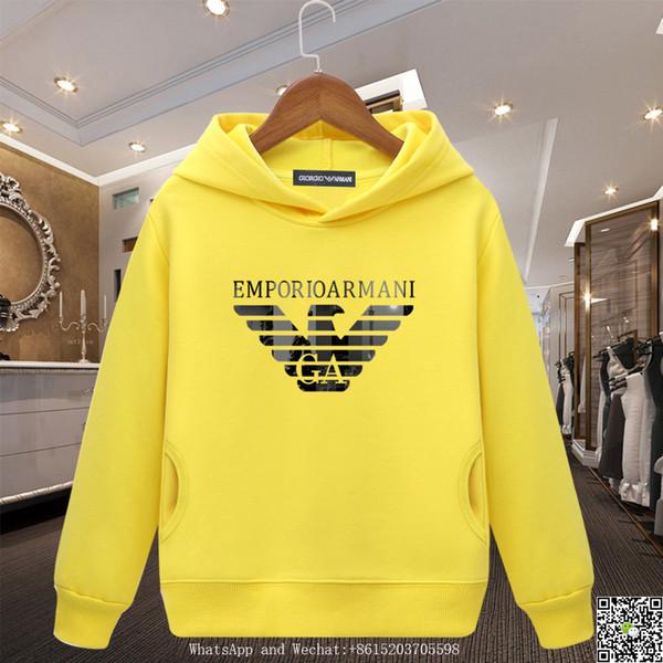 дети бренд толстовки новый шаблон дети чистый хлопок свитер вышивать даже Cap с длинными рукавами мальчики осень платье