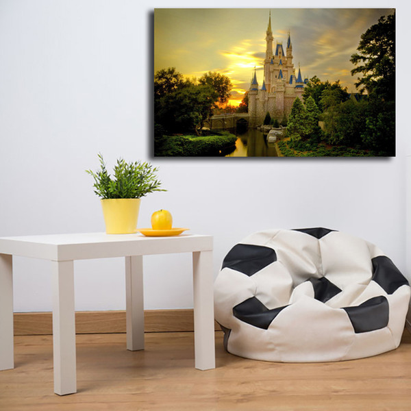 Fabulous 2019 Thomas Kinkade Cinderella Castle Poster Canvas Painting Oil Framed Wall Art Print Pictures For Living Room Modern Home Decoracion Framework From Inzonedesignstudio Interior Chair Design Inzonedesignstudiocom