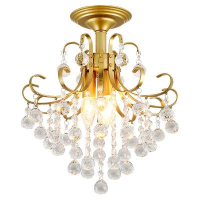 Nordic Crystal Ceiling Lights Modern Led Ceiling Lamp For Living Room Bedroom Luminaire Porch Aisle Corridor Lighting Fixtures