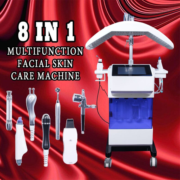 New 8 in1 Water Hydra facial Dermabrasion cleaning skin Oxygen Jet BIO Face Lift Ultrasound Machine hydrafacial Equipment