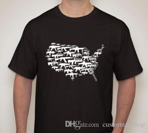 Оружие в Америке вторая поправка права Майка Малый-5XL доступны тройник новинка прохладный топы мужчины с коротким рукавом футболки