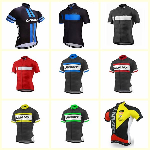 GIANT team Cycling Short Sleeves jersey quick-drying bicycle clothing men's breathable outdoor sports free delivery T1855