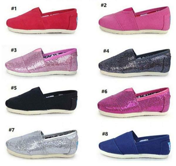 SıCAK Rahat Ayakkabılar çocuklar Classics Tom Sneakers erkek kız çocuk Loafer'lar Tuval Slip-On Flats ayakkabı Tembel loafer'lar Flats Espadrilles çocuk ayakkabı