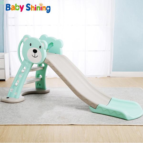 Baby Shining Kids Slide Toys Baby Room Outdoor/Indoor Games Slide Toys Foldable Hight Adjustable with Basket Buffer Odorless