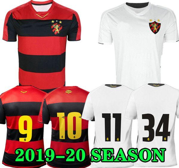Hernane 19 20 Sport Recife Início Red Soccer Jersey GUILHERME SANDER 2019 2020 camisa branca fora futebol Brasil Clube Mailson ADRYELSON CHARLES