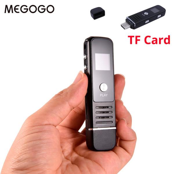 Megogo 8 GB Professionelle Audio Recorder Business Tragbare Digital Voice Recorder USB Unterstützung mehrsprachige TF-Karte bis 64 GB