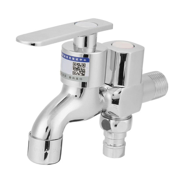 New Basin Faucets Multifunctional Copper Alloy Dual Water Tap Faucet for Bathroom Washing Machine