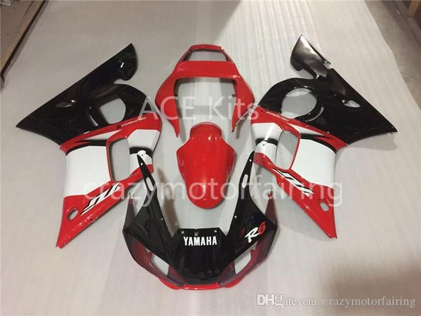 3 Free gifts New ABS Fairing Kits 100% Fitment For YAMAHA YZF-R6 98-02 YZF600 1998 1999 2000 2001 2002 red black white A1